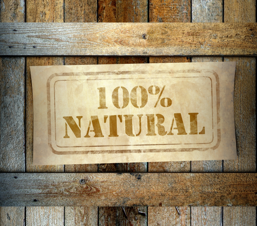 Stamp 100 Natural label old wooden box